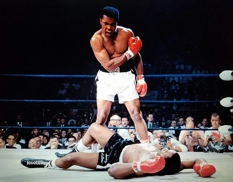 Muhammad Ali Towers Over Sonny Liston In Their Second Fight 1965