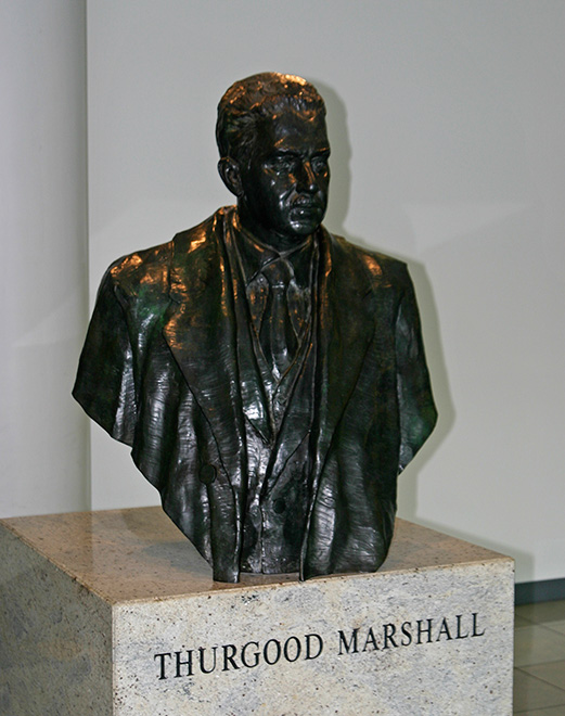 Thurgood Marshall bust in the north terminal of BWI Thurgood Marshall International Airport