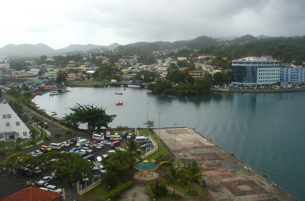 Scenic Barbados harbor