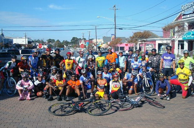 Black Cyclists gather at the Seagull Century in Salisbury, Maryland
