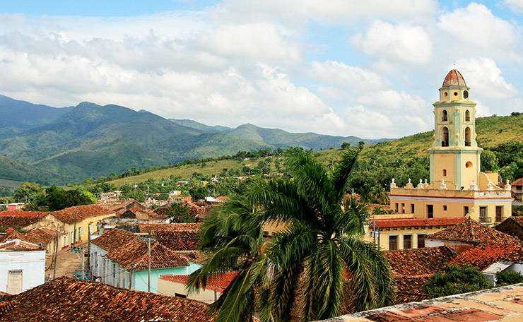 Convento de San Francisco as seen from Palacio Brunet watchtower in Trinidad, Cuba