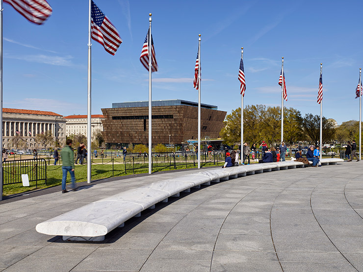 After a decades long location battle, National Museum of African American History & Culture is situated in one of the most prominent places on the Mall northeast of the Washington Monument