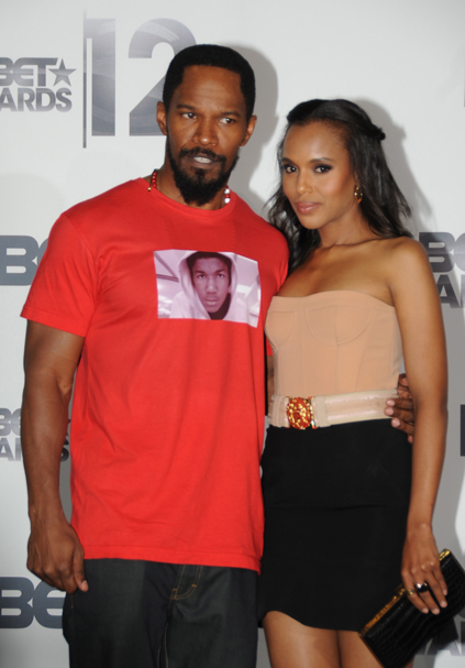 Jamie Foxx and Kerry Washington, 2012 BET Awards