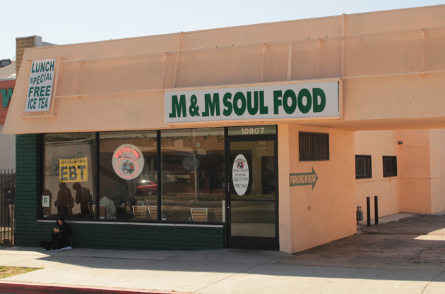 M m soul food restaurant on crenshaw blvd in inglewood for M and s dining