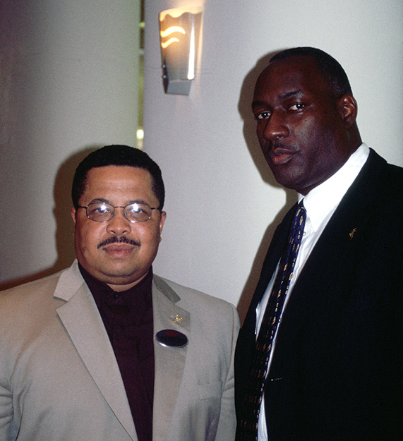 (l-r) Velton and Jesse, first marketing director and general manager of the Royal Palm Resort