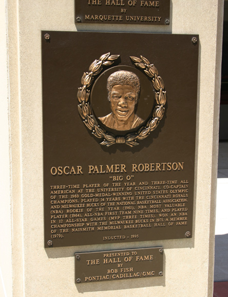 Oscar Robertson marker in the Sports Hall of Fame
