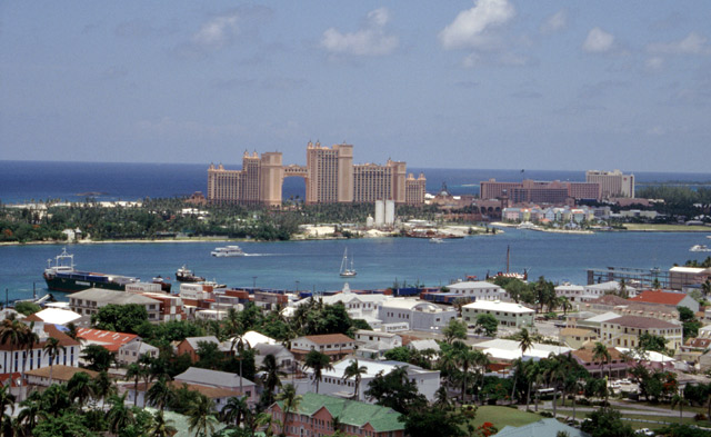 Overlooking the harbor in Nassau, Bahamas
