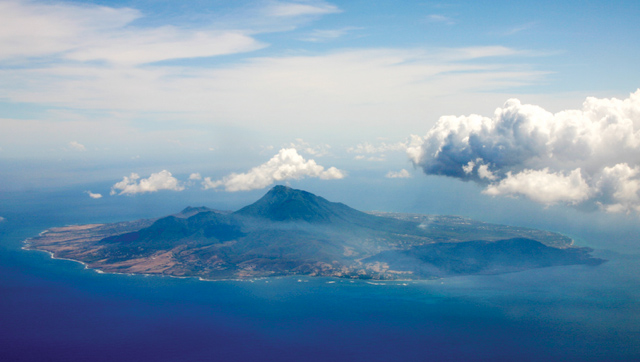 Nevis island from above