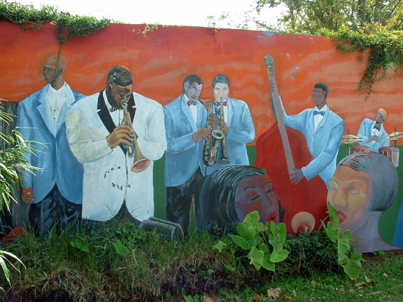 A mural at the african american museum for African american mural