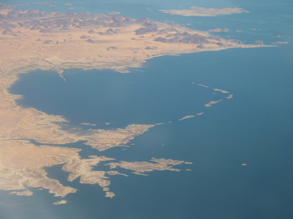 Lake Nasser, Egypt viewed from above
