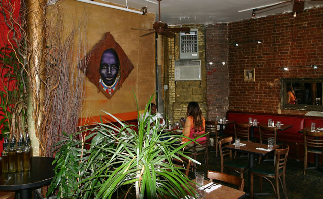Native restaurant interior