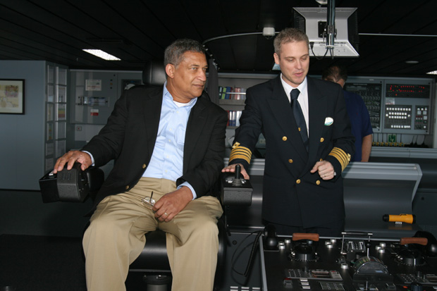Calvin Young of SoulOfAmerica.com in the captain's seat