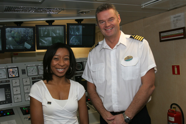 Lonneta Ragland meets the Chief Engineer