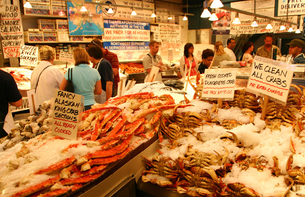 alaskan king crab legs in pike place market On anchorage fish market