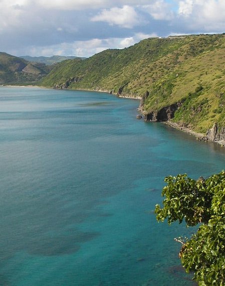 Rugged southern coast of St. Kitts