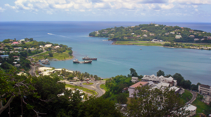 Port of entry to Castries, St. Lucia