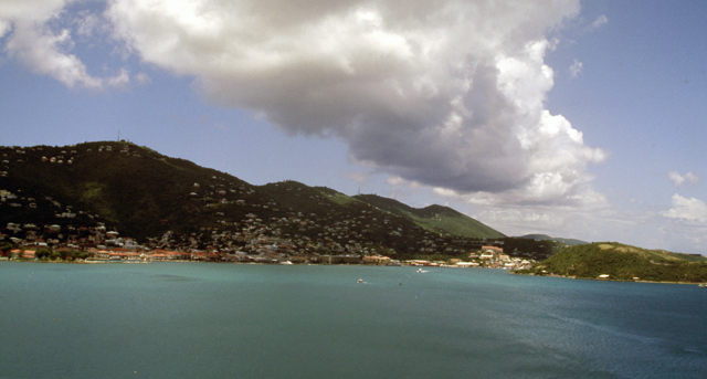 Approaching the Dutch side of the island, St. Maarten