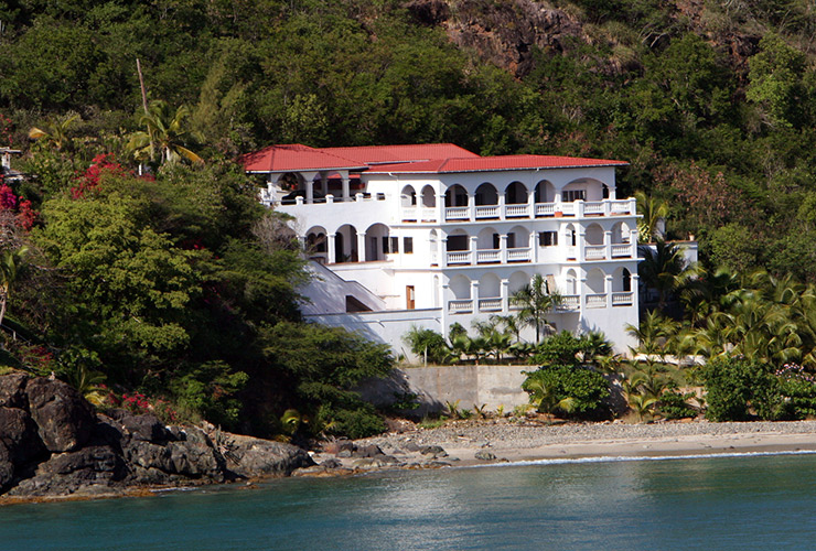 A mansion on the St. Thomas hillside