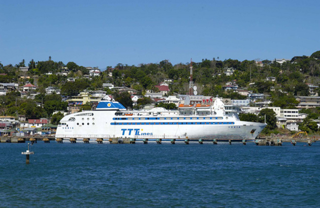 TTT Ferry traveling between Tobago and Trinidad