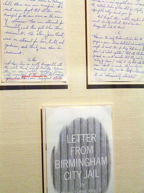 Martin Luther King Jr Letter from a Birmingham Jail at Atlanta History Center
