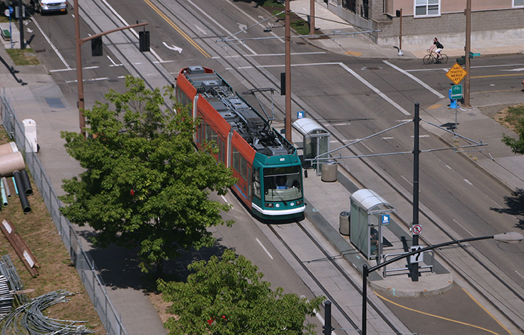 9. Portland Light Rail-Streetcar System covers most of the metro area, including Downtown to PDX Airport; 132,000 daily patrons