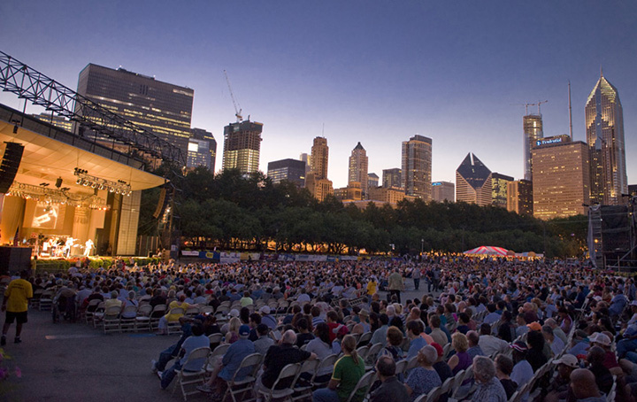 Chicago JazzFest at Petrillo Shell in Grant Park