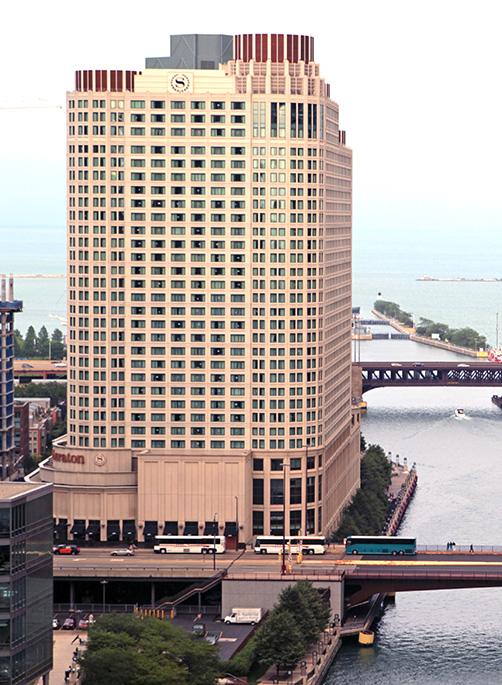 Sheraton Hotel at 301 East North Water Street, Chicago