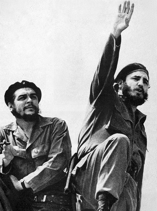 Che Guevara and Fidel Castro in Cuba 1961