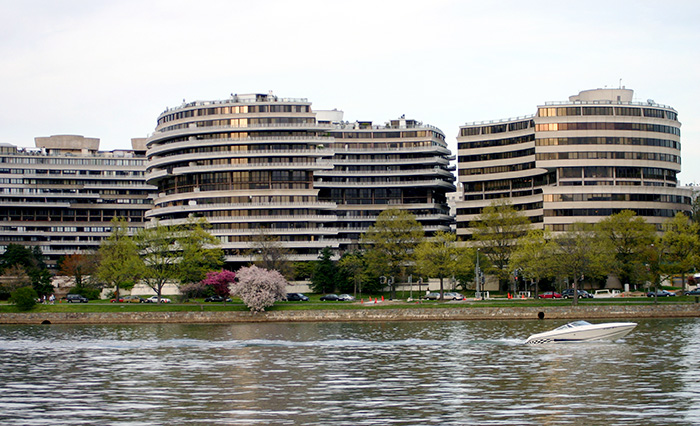 The Watergate Hotel at 700 New Hampshire Ave NW, Washington