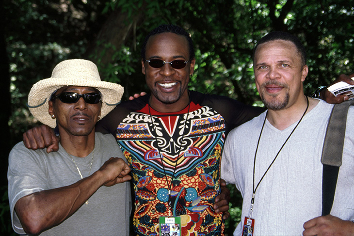 Stone Soul Picnic, Skip Martin of the Dazz Band (center) and Thomas Dorsey (right)