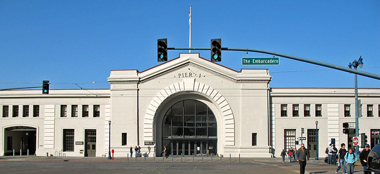 Pier 1, on the National Register of Historic Places, was renovated as office space before the Ferry Building was renovated