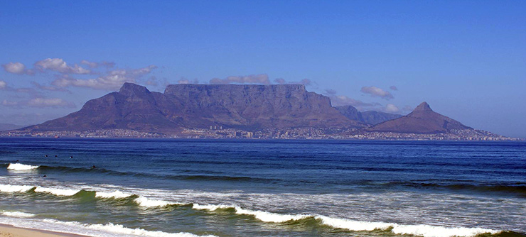 Table Mountain behind Cape Town